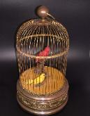 Bontems Large Two Bird Mechanical Singing Bird Automaton Cage
