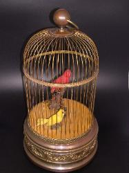 Singing Bird Cage Automaton - French 1900s Large cage