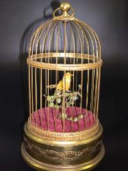 Singing Bird Cage Automaton - French 1900s