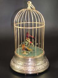 Singing Bird Cage Automaton - German 1900s