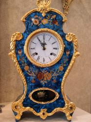 Le Ore 416 Clock in Blue Mother-of-Pearl Style with Chime